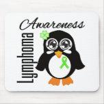 Pingüino de la conciencia del linfoma alfombrillas de ratones