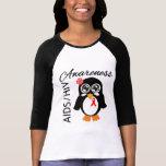 Pingüino de la conciencia del VIH del SIDA Camisetas