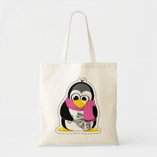 Pingüino de la cupón bolsa