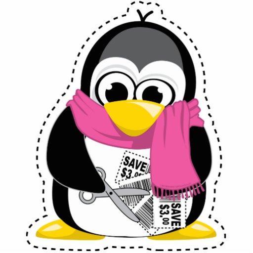 Pingüino de la cupón esculturas fotográficas