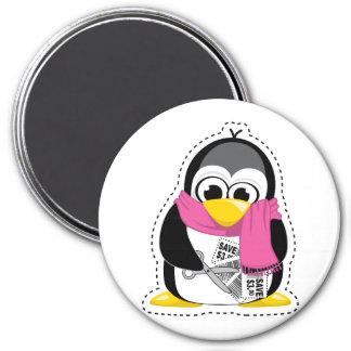 Pingüino de la cupón imán de nevera