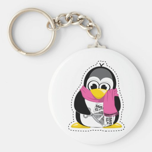 Pingüino de la cupón llavero