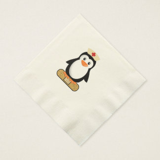 Pingüino de la enfermera servilletas de papel