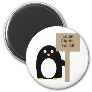 Pingüino de la Favorable-Igualdad Imán Redondo 5 Cm
