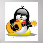 Pingüino de la guitarra impresiones