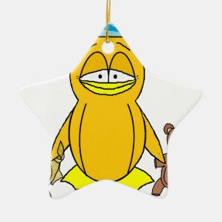 Pingüino de la hora de acostarse ornamentos de navidad