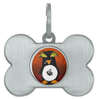 Pingüino de la licencia de orilla placa mascota
