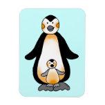 Pingüino de la mamá/del papá y del bebé, fiesta de iman flexible