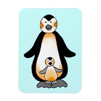 Pingüino de la mamá/del papá y del bebé, fiesta de imanes