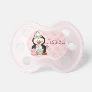 Pingüino de la niña a modificar para requisitos pa chupetes para bebés