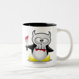 Pingüino de la película de terror tazas de café