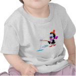 Pingüino de la pesca camisetas