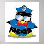 Pingüino de la policía impresiones