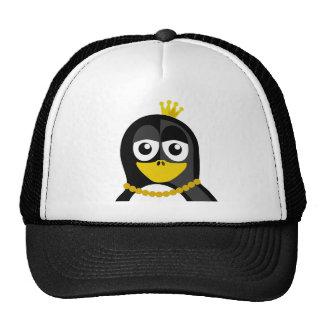 Pingüino de la reina gorras de camionero