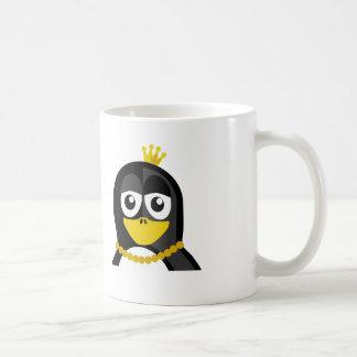 Pingüino de la reina taza