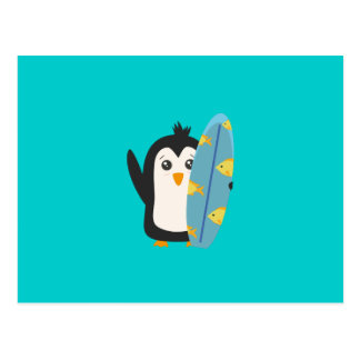 Pingüino de la tabla hawaiana tarjetas postales