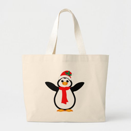 Pingüino de las felices Navidad Bolsa