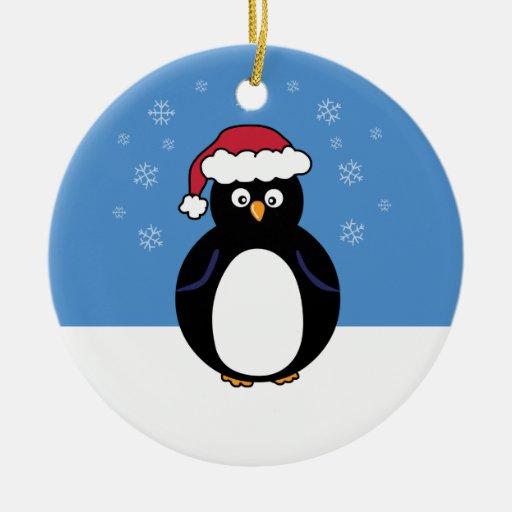 Pingüino de las felices Navidad Ornamentos De Reyes Magos