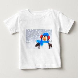 Pingüino de las felices Navidad Playera De Bebé