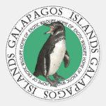 Pingüino de las islas de las Islas Galápagos Pegatina Redonda