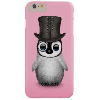 Pingüino de lujo lindo del bebé con el sombrero de funda de iPhone 6 plus barely there
