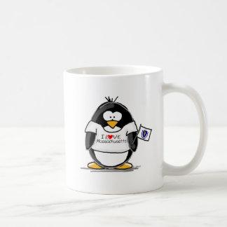 Pingüino de Massachusetts Taza Básica Blanca