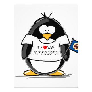 """Pingüino de Minnesota Folleto 8.5"""" X 11"""""""