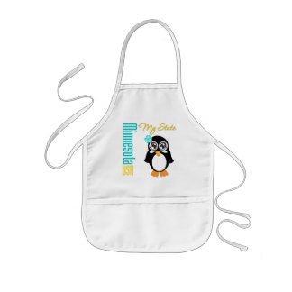 Pingüino de Minnesota los E.E.U.U. Delantal Infantil
