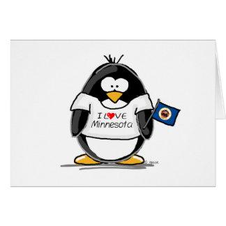 Pingüino de Minnesota Felicitación