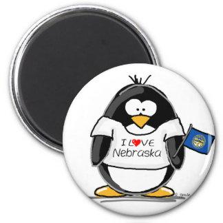 Pingüino de Nebraska Imán Redondo 5 Cm