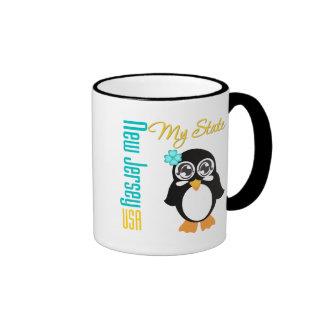 Pingüino de New Jersey los E.E.U.U. Tazas De Café
