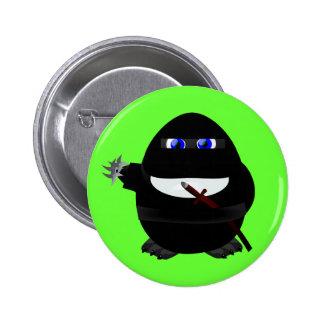 Pingüino de Ninja Pin Redondo De 2 Pulgadas
