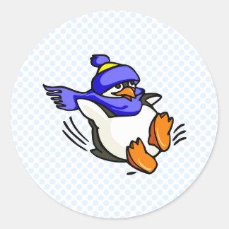 Pingüino de Pammy Pegatina Redonda