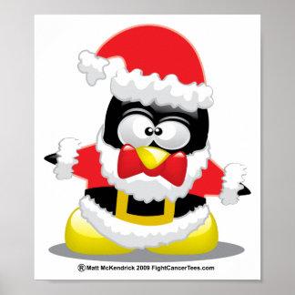 Pingüino de Papá Noel Impresiones
