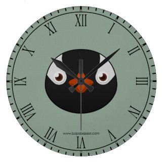 Pingüino de papel de Gentoo Reloj Redondo Grande