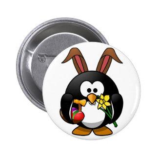 Pingüino de Pascua Pin Redondo 5 Cm