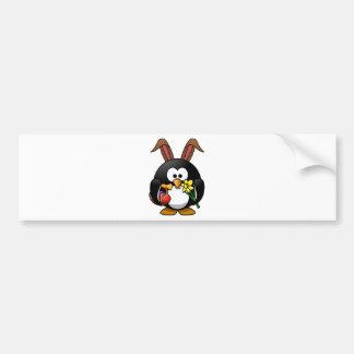 Pingüino de Pascua Etiqueta De Parachoque
