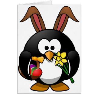 Pingüino de Pascua Tarjeta De Felicitación