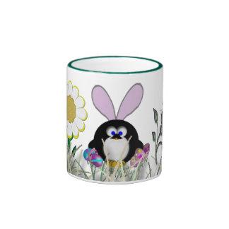 Pingüino de Pascua Taza A Dos Colores