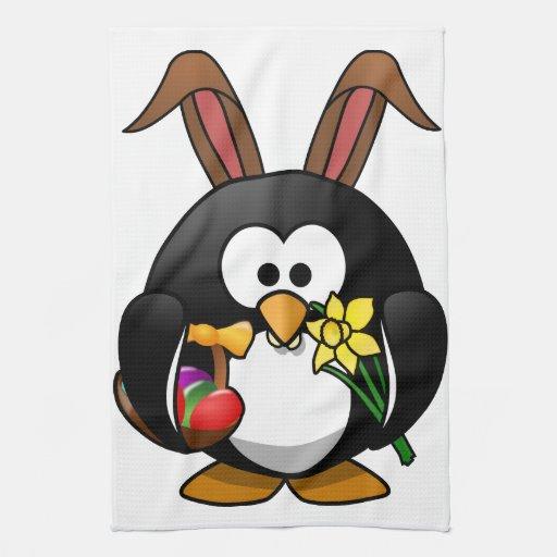 Pingüino de Pascua Toalla De Mano