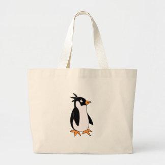 Pingüino de Pele Bolsas Lienzo