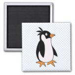 Pingüino de Pele Imán De Frigorífico