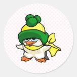 Pingüino de Pingo Etiquetas Redondas