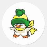 Pingüino de Pingo Pegatina Redonda