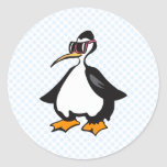 Pingüino de Polly Pegatinas Redondas