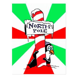 Pingüino de Polo Norte Tarjetas Postales