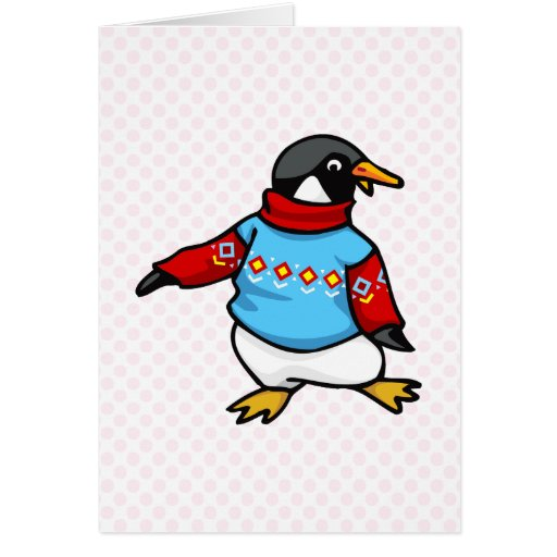 Pingüino de Pringle Tarjeta De Felicitación
