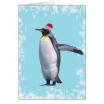 pingüino de rey nuevo year2 felicitación