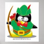 Pingüino de Robin Hood Impresiones