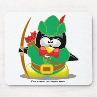 Pingüino de Robin Hood Tapete De Ratones
